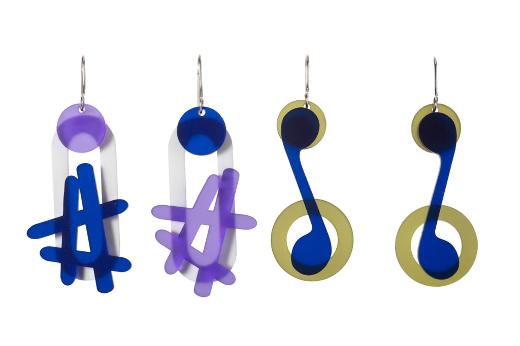 Hash tag and musical notes earrings