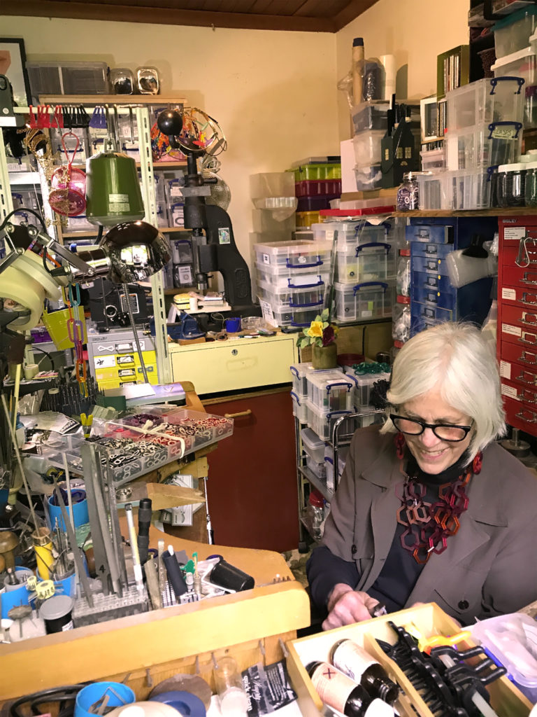 Shelby Fitzpatrick working at her jewellery bench